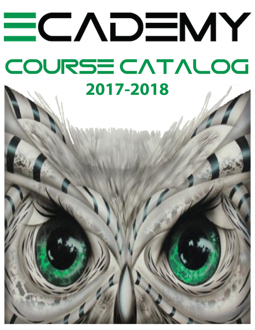 Click here to view the eCADEMY Course Catalog for 2017-2018!